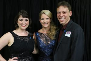 From Left to Right; Jacque Carnahan, Producer; Kelli O'Hara, Show Host; Michael Holzer, Producer